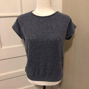 Vintage Slate Blue Cap Sleeve Sweater